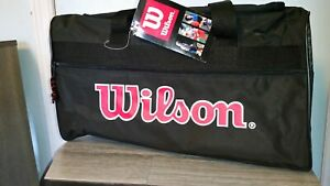 New Vintage Wilson Sports Individual Black Gear Gym Athletic Duffle Bag 80s/90s