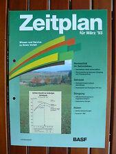 BASF Zeitplan für März 1993 - Getreide Rüben - Prospekt Brochure 02.1993 (0568