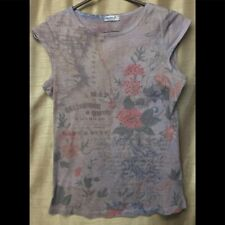 One World Womens Brown Floral Sleeveless Top Size M