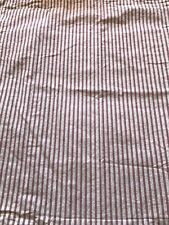 Pottery Barn Euro Red Cream Ticking Stripe Shams Pair