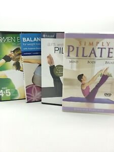 Workout DVDs Lot of 4: Gaiam Pilates + Balanceball, Carmen Electra's Lap Dance
