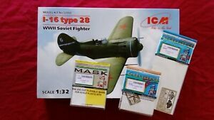 1 :32 ICM 32002 I-16 Type 28 WWII Soviet Fighter