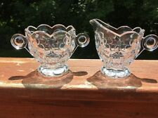 Heisey Glass Whirpool Sugar & Creamer Set Marked