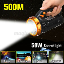 50W Outdoor Spotlight Handheld Searchlight LED Lamp Rechargeable Flashlight