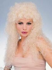 Blonde LONG CURLY WIG Rubie's Costumes #50745 Tight Curl 1980's Rocker - Witch