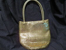 Groovy Gold mesh handbag small/medium, perfect for holiday parties!