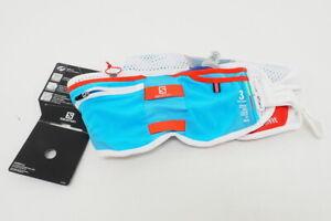 New! Salomon Unisex Advanced Skin 3 Adjustable Running Belt Blue/Red/White