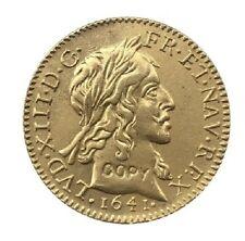 ½ Louis d'Or - Louis XIII - Année 1642 - Dorée (Réplique)