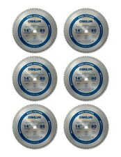 "Oshlun Sbf-140080 14"" 80 Tooth Saw Blade 1"" Arbor for Mild Steel - 6 Pack"