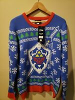Legend of Zelda Master Sword and Hylian Shield  Sweater Size ( L) NEW