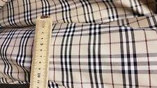 3m Original Burberry cotton nova tartan fabric for trench coat 150 cm wide