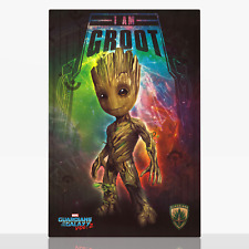 Baby Groot Framed Canvas Print Picture Guardians Of The Galaxy 2 Ready To Hang