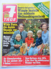 7 Tage Nr 52/1974,  Caterina Valente, Heintje, Paul Dahlke, Anna Moffo, Jürgens