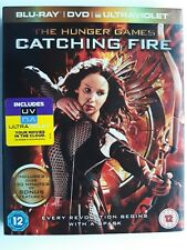 The Hunger Games: Catching Fire (Blu-ray+ DVD, 2-Discs) with embossed slip cover