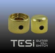 Tesi Premium Dual Concentric Guitar Knob Set - Volume, Tone - Gold