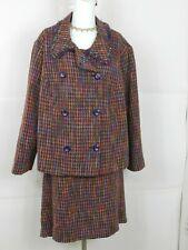 Womens sz 22W Talbots Pink, Purple Tweed 2-Pc Skirt Suit  Business Work