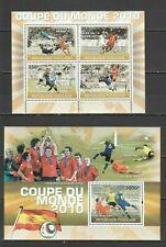 TG1221 2010 TOGO SPORT FIFA WORLD CUP 2010 STARS WINNER SPAIN BL+KB MNH
