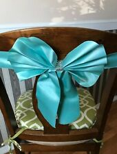 95 pcs Wedding Chair Satin Chair Cover Bows Teal Color for Wedding/Parties