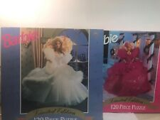 Barbie Limited Edition Puzzles Lot of 2- NEW Christmas Holiday 120 Piece