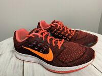Nike Air Zoom Structure 18 Mens Running Shoes Sneakers Mens Sz 10 Black Orange