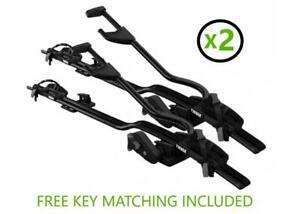 Thule ProRide 598 Cycle Carriers - Black Twin Pack - Key Matching - Next Day