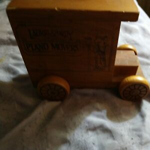 Rare Vintage 1978 Toystalgia Laurel & Hardy Wooden Truck Piggy Bank Piano Movers