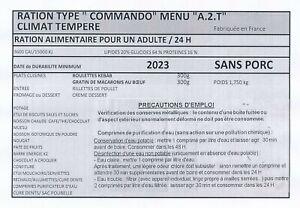 Ration de combat commando DDM 2023 MENU A2T