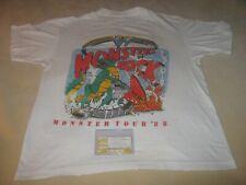 MONSTERS OF ROCK 1988 ORIGINAL VINTAGE TOUR SHIRT&TICKET STUB*LARGE*VAN HALEN**