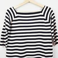 ZARA |  Womens Striped Ponte Top [ Size L or AU 14 or US 10 ]