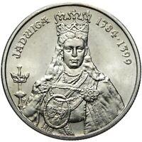 Gedenkmünze Polen - 100 Zlotych 1988 - JADWIGA 1384-1399 - Stempelglanz UNC