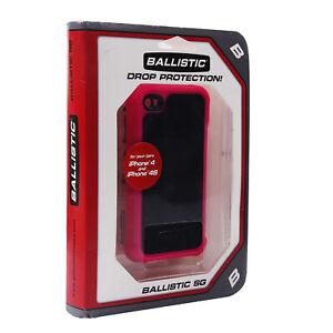 Ballistic SG Pink Black Rugged Defender Hybrid Case For Apple iPhone 4 4S