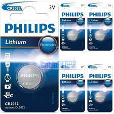 5 x Philips CR2032 3V Lithium Button Battery Coin Cell DL2032 - EXPIRY 2025