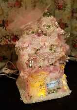 Shabby Chic Roses Pink Christmas Village Victorian Village Pearls Pink Rose Chic