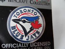 Official TORONTO BLUE JAYS Enamel ROUND LOGO PIN BADGE New MLB Pack Canada
