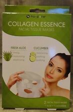 Aloe and Cucumber Nu-Pore Collagen Essence Facial Masks-2 Masks