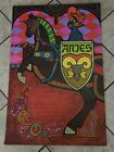 Rare Vtg Nash 1969 Harry Wysocki Zodiac Posters (Set Of 12 Pieces)