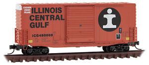 Micro-Trains MTL N-Scale 40ft Hy-Cube Box Car Illinois Central Gulf/ICG #480069