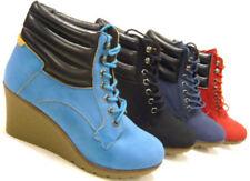 Markenlose Damenstiefel & -Stiefeletten mit Keilabsatz/Wedge im Stiefeletten/Boots-Stil
