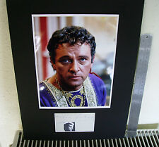 RICHARD BURTON WELSH ACTOR AUTHENTIC SIGNED AUTOGRAPH MOUNTED DISPLAY UACC
