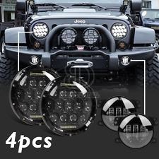 2x 7 inch CREE LED Headlights DRL+ 4 inch Fog Lights for Jeep Wrangler JK LJ CJ