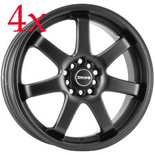 Drag Wheels DR-35 17x7.5 4x100 4x114 Flat Black Rims For Talon Sentra Neon Prius