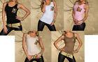 Débardeur/Top Femme/Woman Taille S/M (du 36 au 40) blanc/noir/rose/écru/taupe