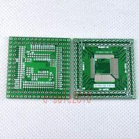 10pcs QFP/EQFP/TQFP/LQFP 80P to 100P SMT to DIP Adapter PCB Board Converter F17A