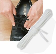Elastic Shoe Laces 94cm White - AS Slippers - 2 Pair