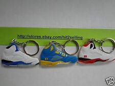 Air Jordan Retro 1, 2, 4, 5, 6, 7, 8,9,11,  3 Keychain Set Nike BIN db MVP Cork