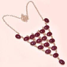 "Ethnic Jewelry Necklace 18"" Rd-52440 Purple Chalcedony Gemstone Handmade Fashion"
