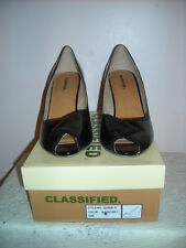 Classified Patent Cork Wedge Peep Toe Shoes New in Box
