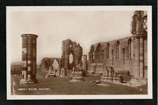 Abbey Ruins Whitby 1950's ? RP Postcard ~ Yorkshire ~ SUPER IMAGE