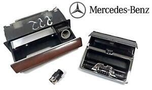 1981-1991 MERCEDES BENZ W126 380,420,500,560SEL SEC  ASHTRAY ZEBRANO ZEBRA WOOD