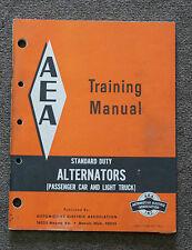 1967 AEA Standard Duty Alternator Training Manual